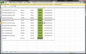 Screenshot: Sachversicherungsvergleich